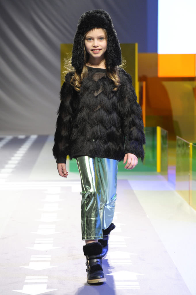 Newcomer Andorine with a new fringed look for kidswear winter 2017 at Pitti Bimbo 84 in Florence