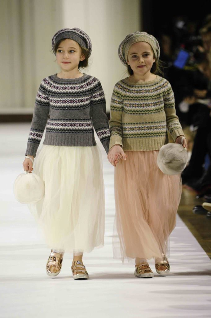 Sweet pastels with woolly sweaters for a winter party, kids style for fall/winter 2017 at Bonpoint