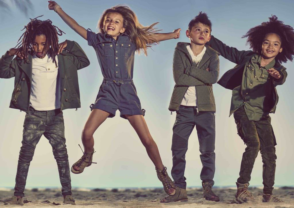 Balmain Kids luxury fashion for spring 2017 available exclusively at Harrods
