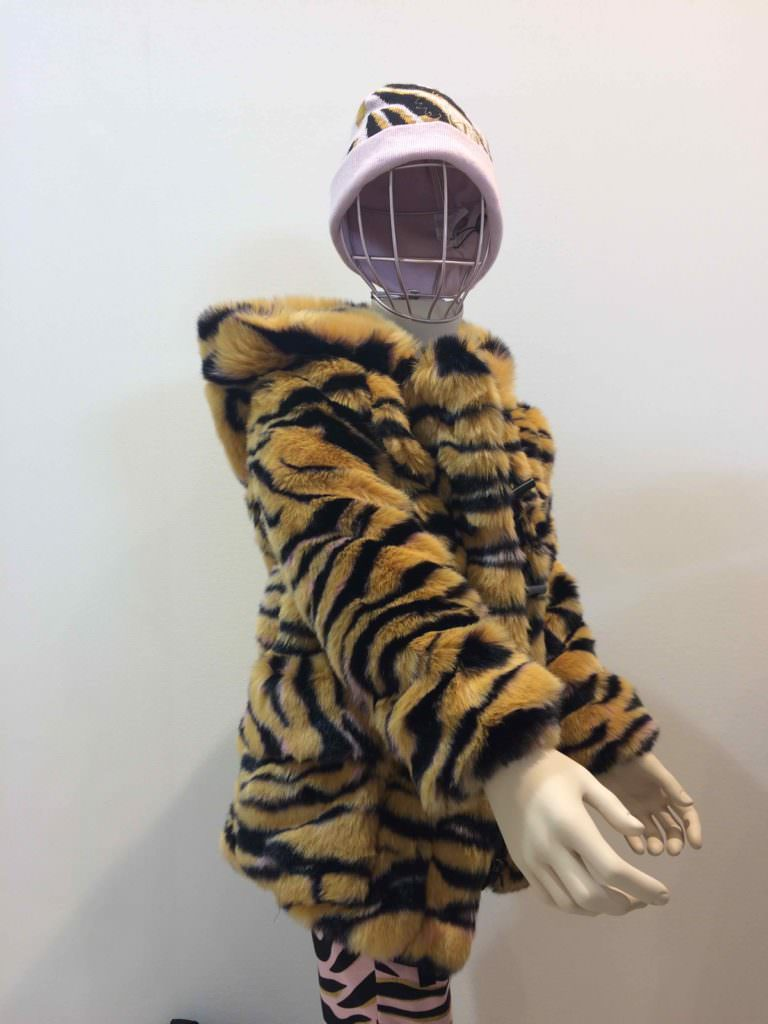 Lovers of animal print won't be disappointed next winter, here's a new variation by Kenzo Kids at Pitti Bimbo 84