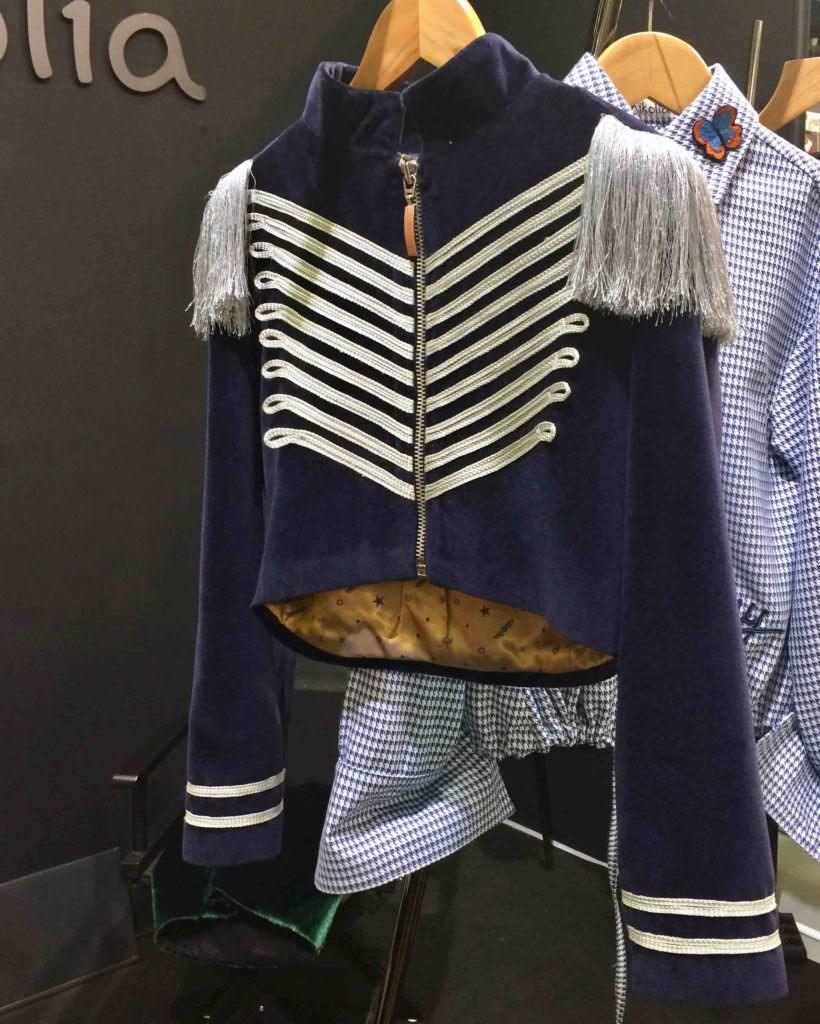 Modern military jacket at Nikolia at Playtime Paris for kidswear winter 2017