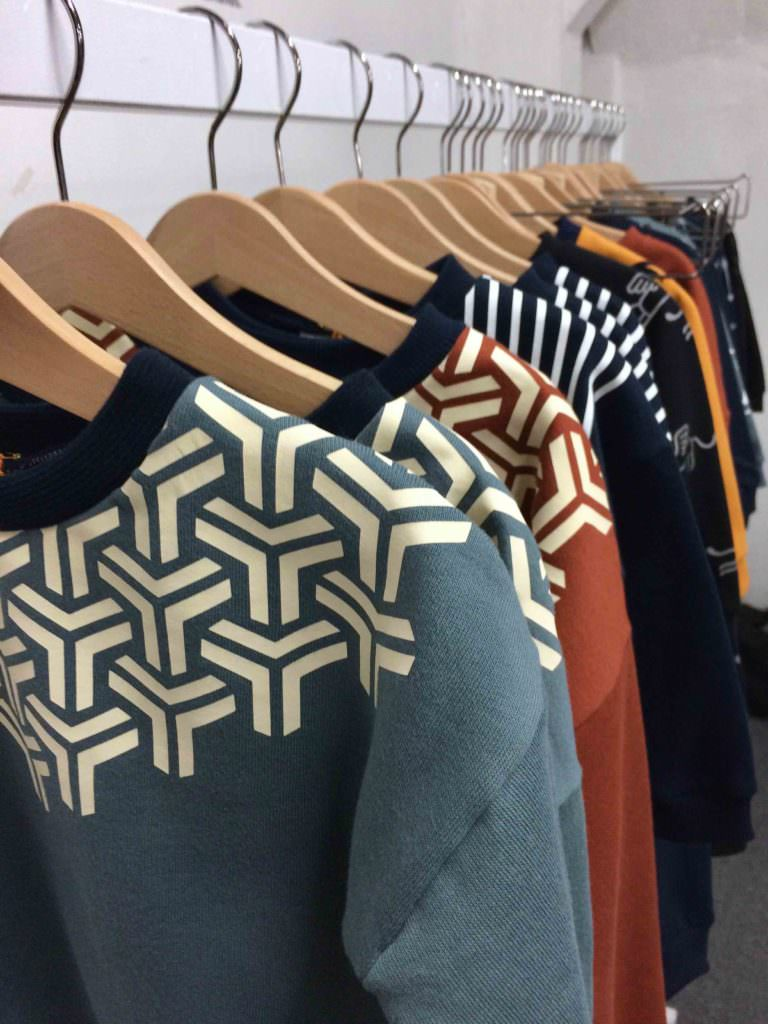 Nice graphic shoulder patterns at Swearhouse for winter 2017