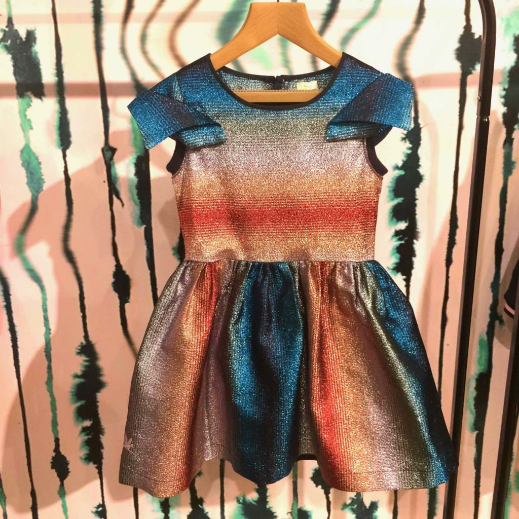 More rainbows at No Added Sugar with a stand out party dress for winter 2017