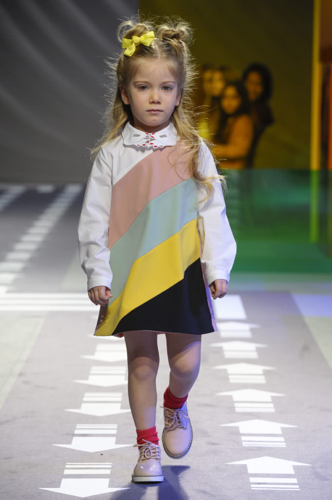 Wide banded stripes in quirky colours is another kids fashion trend I noticed at Pitti Bimbo, here from Vivetta for winter 2017