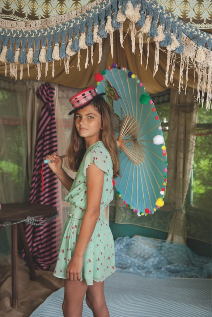 Delicate poppy print for a sweet summer dress for girlswear 2017 at Wild & Gorgeous