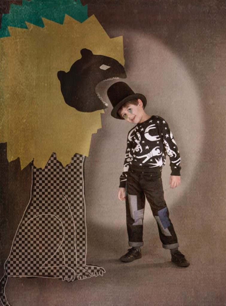 Boyswear features print silhouettes inspired by Matisse and early 20th Century avante-garde circus at Raspberry Plum for autumn/winter 2017