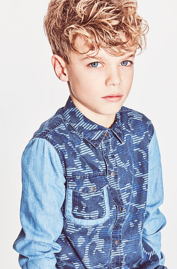 Camo print denim for boyswear by Stella McCartney at Childrensalon kids fashion spring 2017