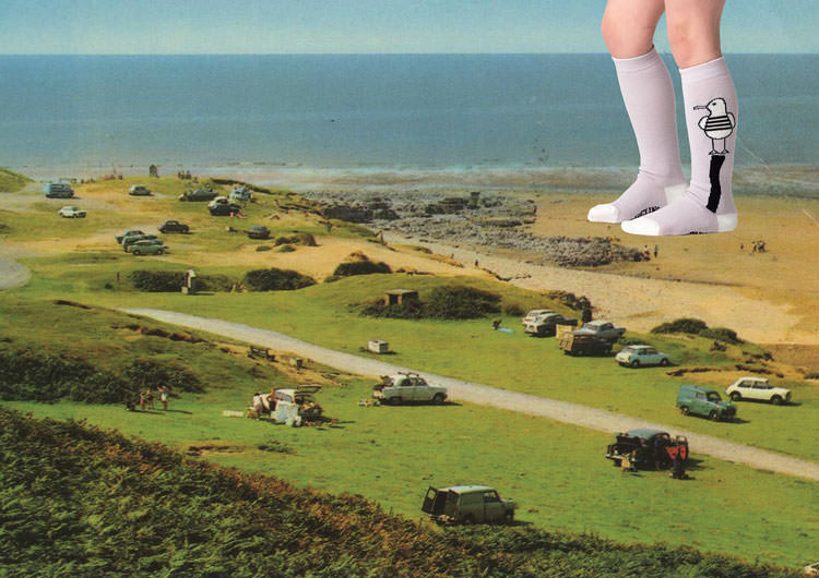 Retro seaside days out are the inspiration for Braveling's summer kids sock campaign