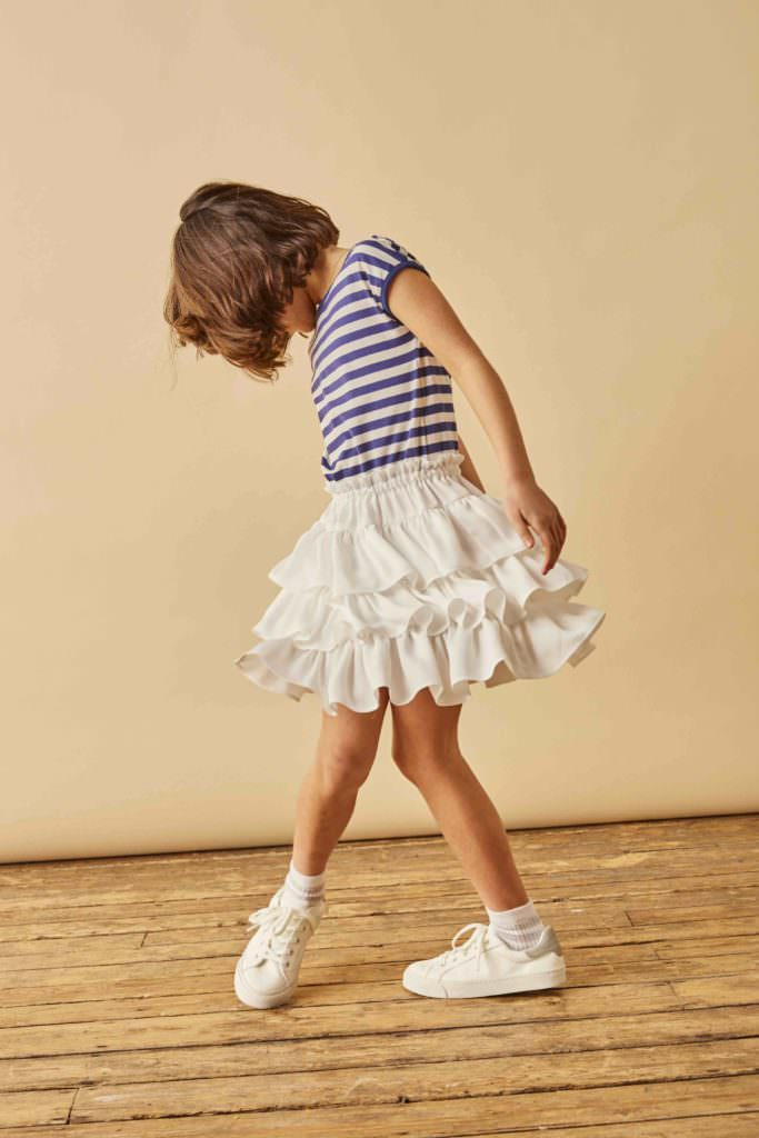 Alexa frill dress from new UK kids fashion label Kingdom of Origin for spring 2017