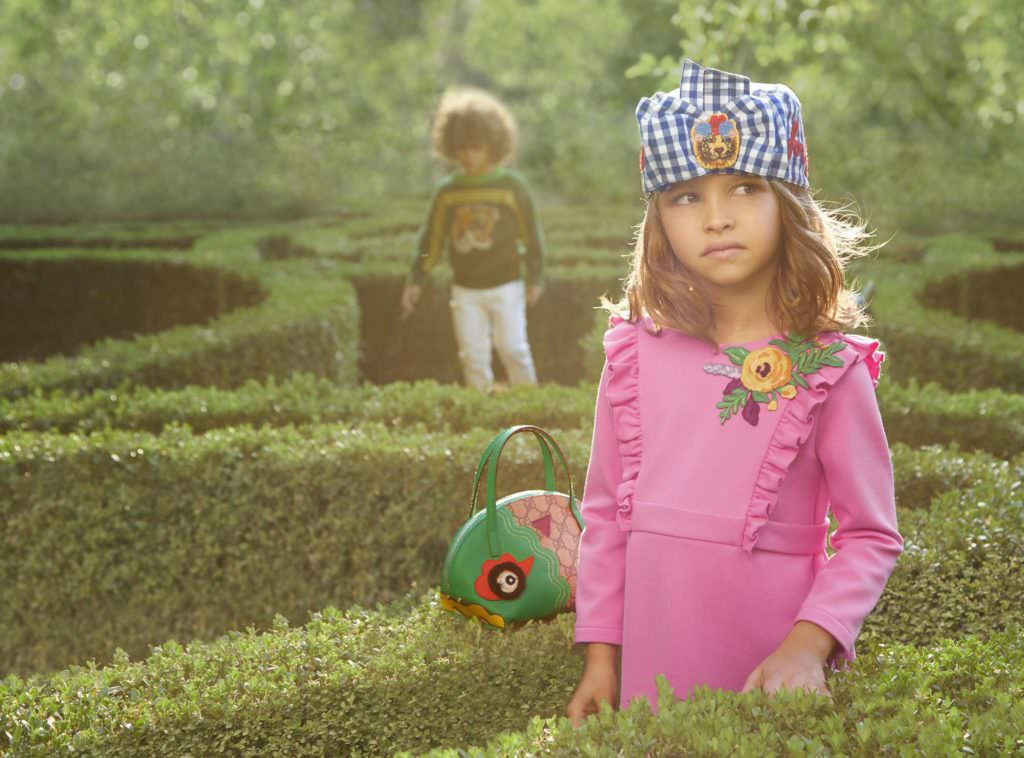 Accessories are a key part of the kids Gucci collection spring 2017