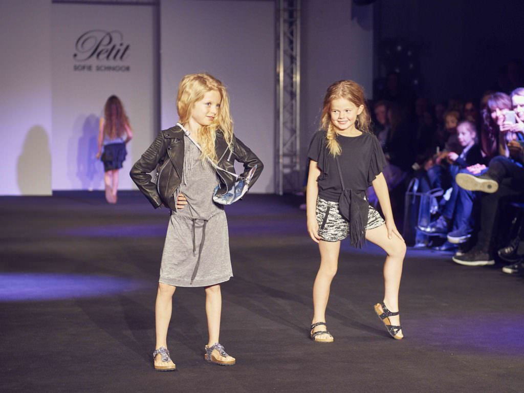 Classic Scandi fashion for kids with black leather jackets and monochrome colours at Petit by Sofie Schnoor for SS17