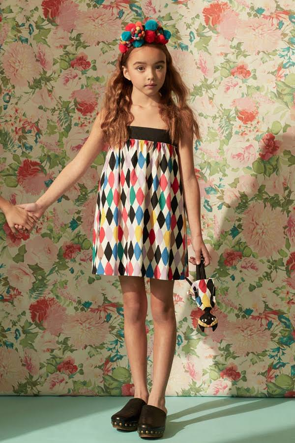 Beautiful harlequin print dress from Ladida for spring 2017