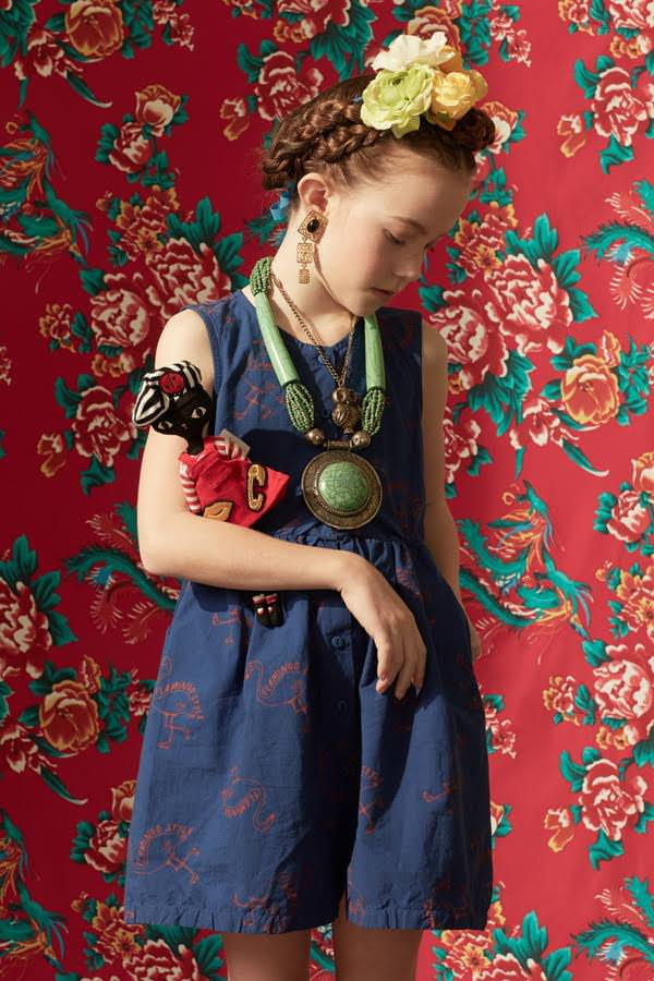 Loving the Frida Kahlo influence at Ladida store for the new spring kids fashion