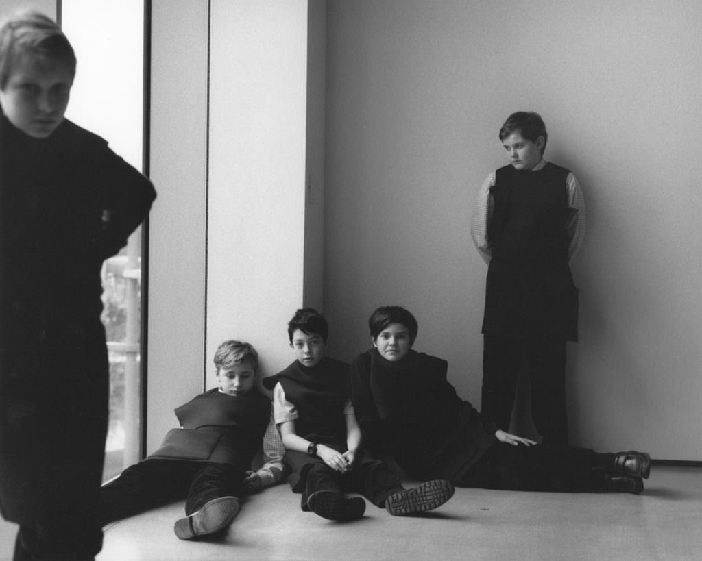 School kids model high fashion in Yorkshire photographed by Jamie Hawkesworth
