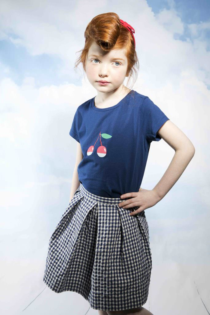 Kids summer style with a retro T-shirt at Ladida webstore for 2017