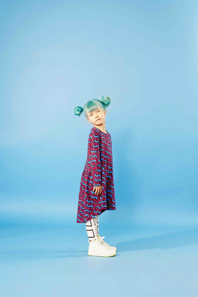 Unusual colour combinations are a feature of Mainio kids clothing