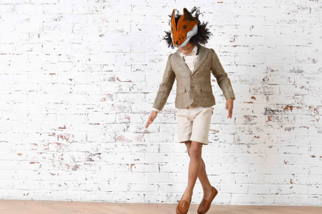 Silk and linen mix herringbone teams with cotton for boys tailoring at Little Wardrobe London