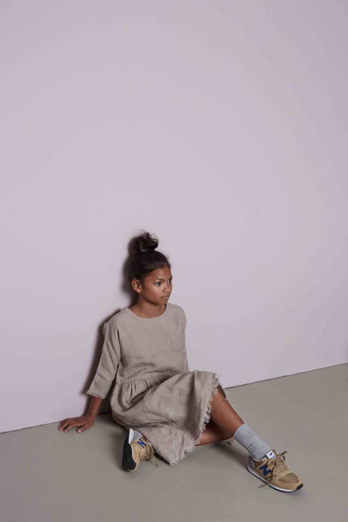Natural plant and organic dyes give a strict colour palette to Pilgrim by Featherdrum kids and womens fashion