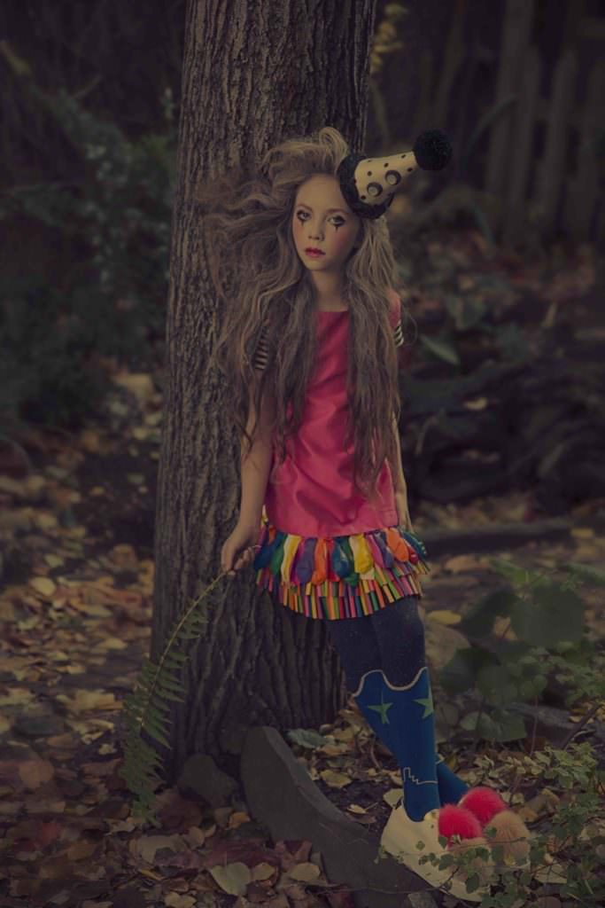 Clown inspiration for a kids fashion shoot in Hooligans March 2017 issue