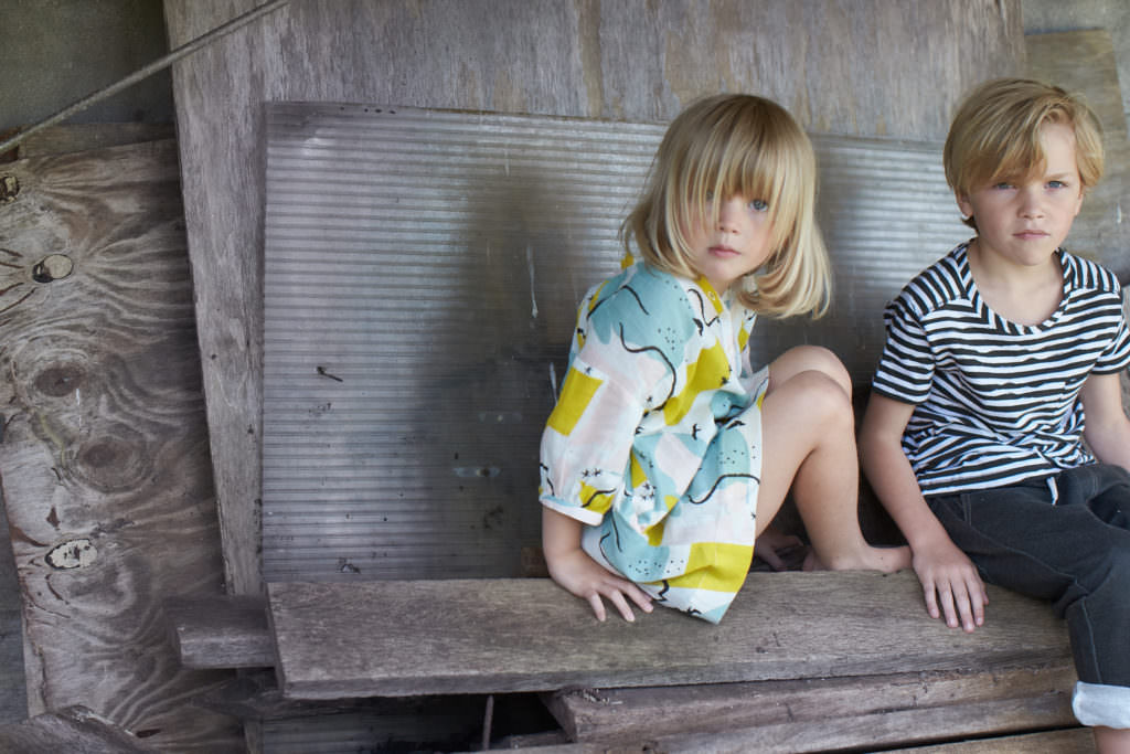 Abstracted florals and stripes at Kidscase kidswear for spring/summer 2017