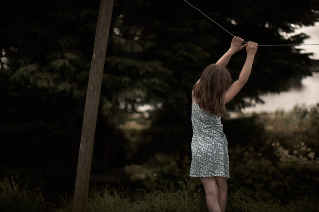 The summer shoot for Kidscase kidswear has a wild and free feeling with children at home in open landscapes