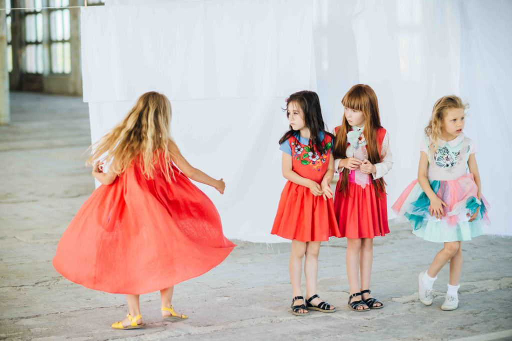 Bold colour at Paade Mode for spring 2017 kids fashion