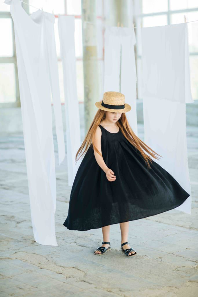 Swinging summer dress by Paade Mode kidswear for summer 2017