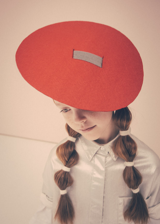 Adorable disc hats in this Collezioni Bambini editorial shoot