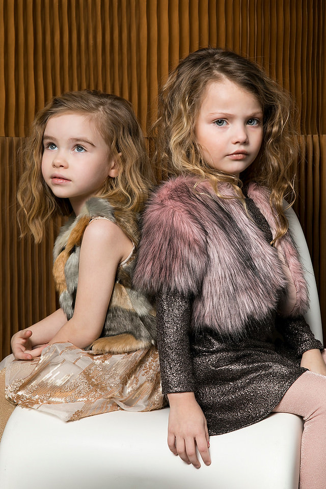 Alitza girls fashion featured on the catwalk at Petite Parade in New York for fall 2017 photo by Anna