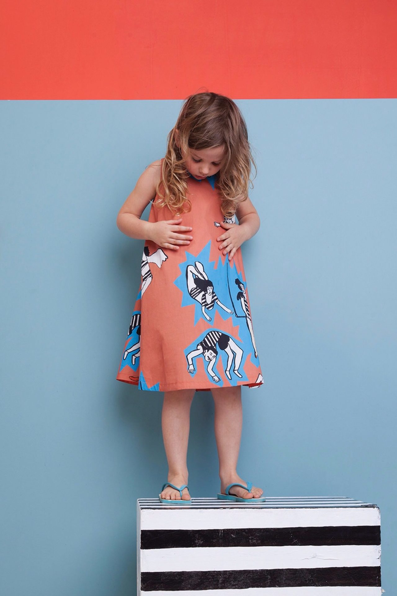 Wonderfull acrobat print by Lucy Kirk for Milk & Biscuits Spring 2017 kids fashion