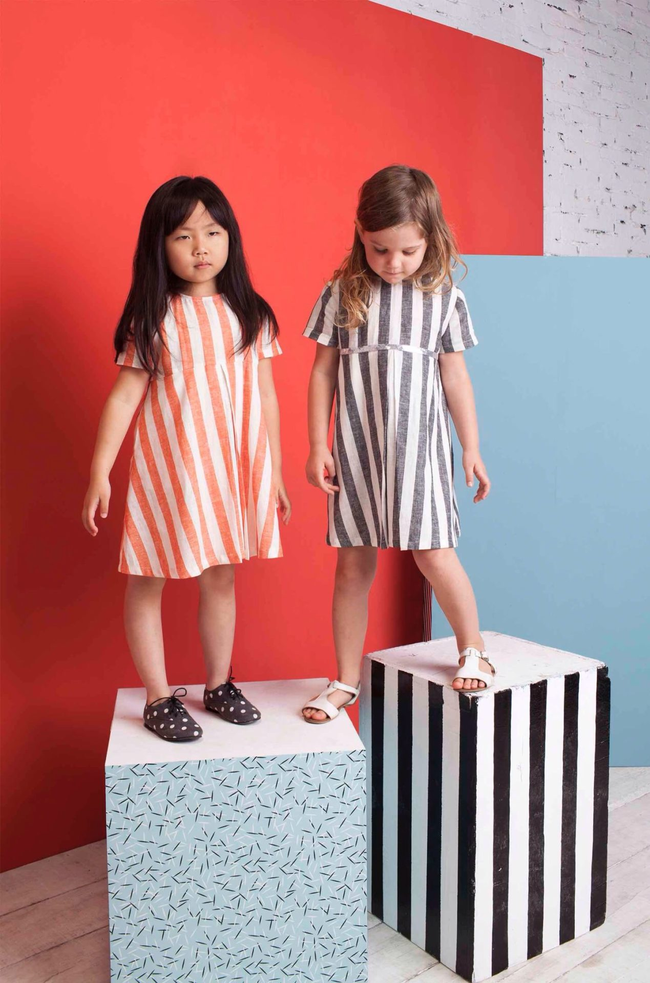 Bold stripes for girlswear at Milk & Biscuits summer dresses