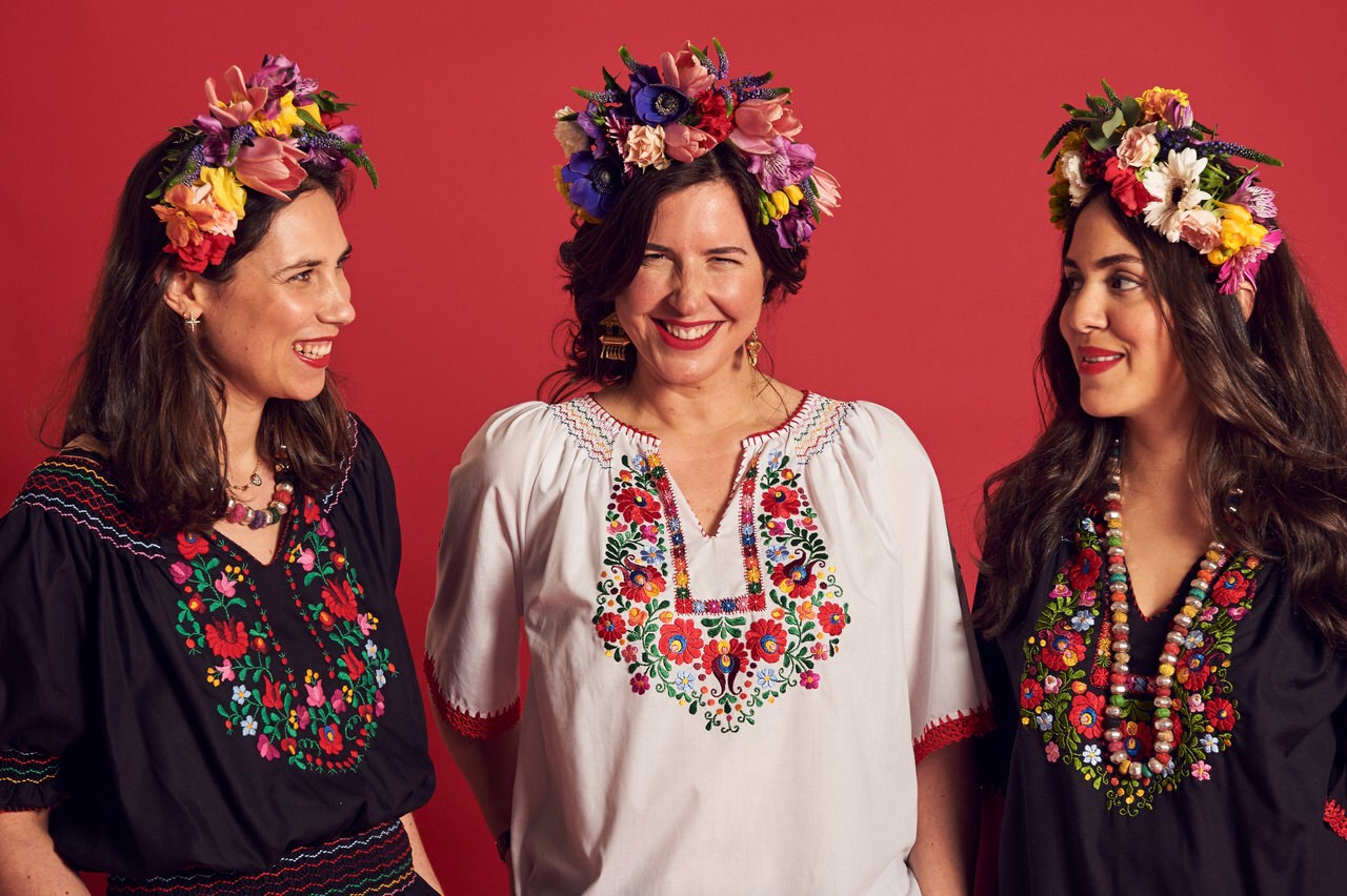 The Muzungu sisters with Celia Munoz founder of La Coqueta
