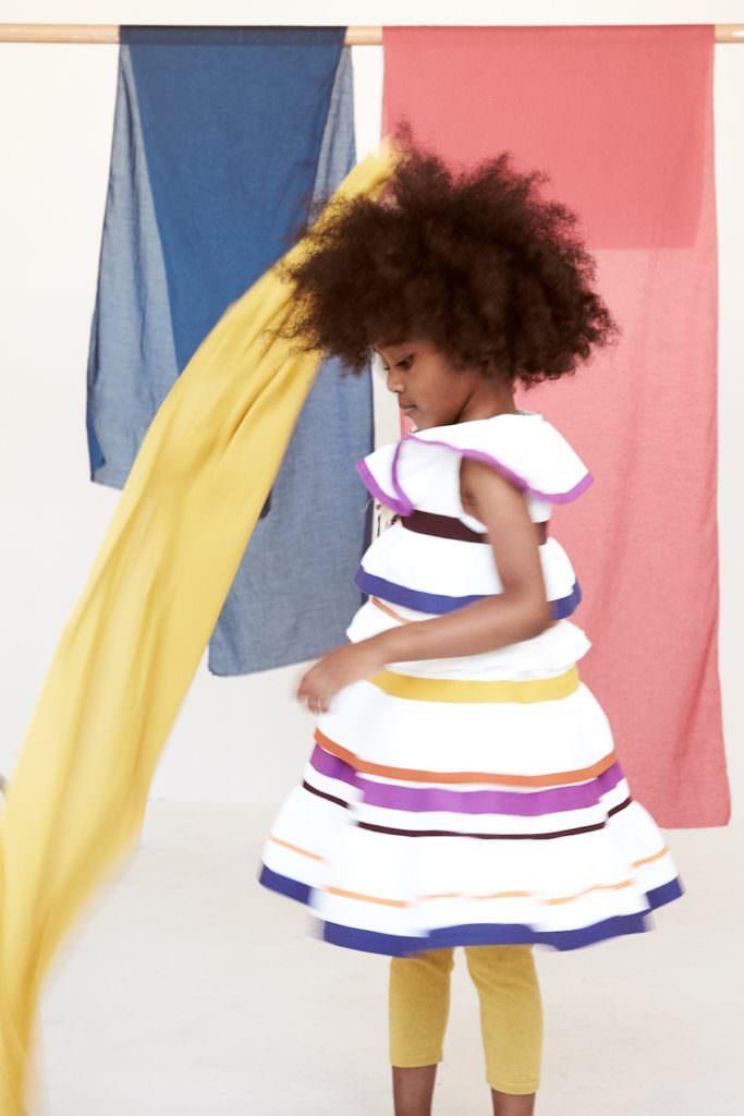 Colour banded dress at Tia Cibani kidswear summer 2017