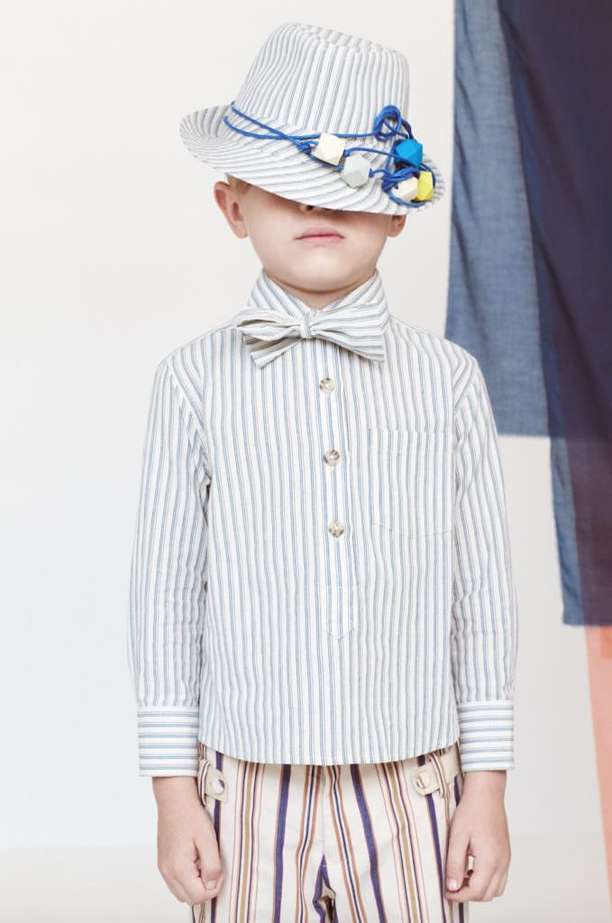 Cute mixed stripes for boyswear at Tia Cibani Kids summer 2017