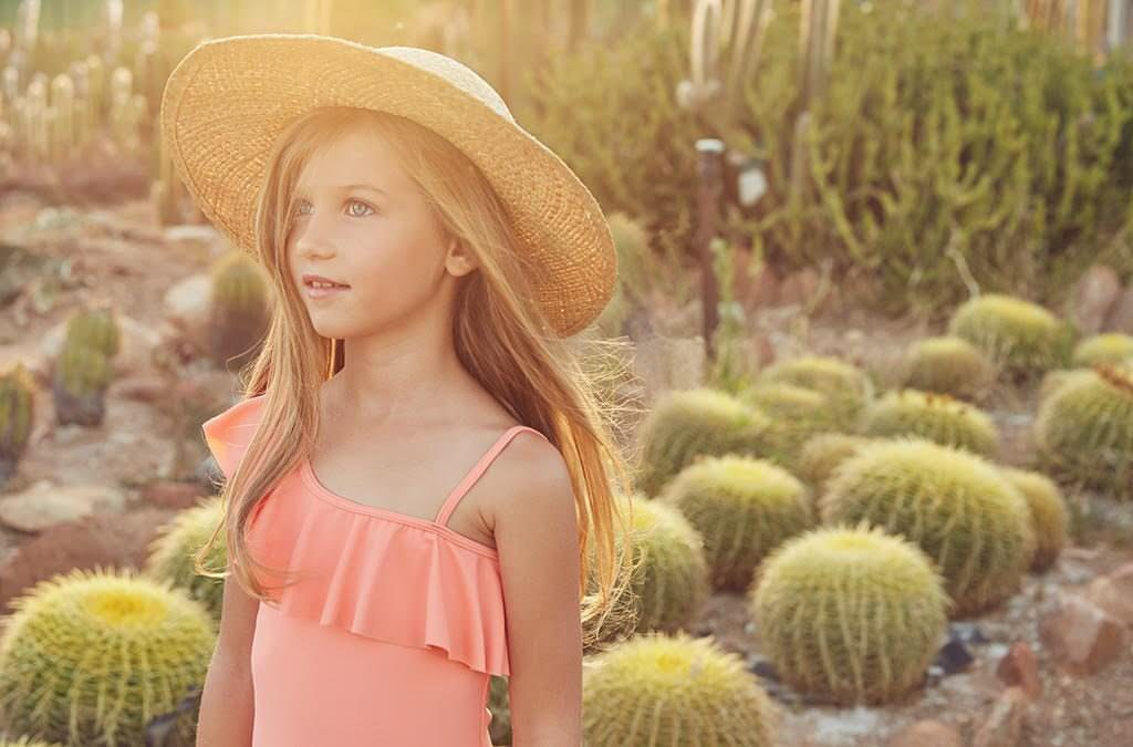 One shoulder top and hat by Chloe from Childrensalon