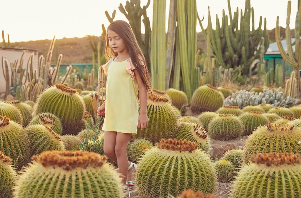 Down on the Cactus farm wearing Chloe girlswear from Childrensalon