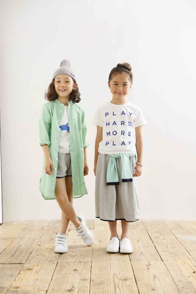 Arch & Line Japanese kidswear is mostly monochromatic or neutral colours but the odd pastel appears too for summer 2017