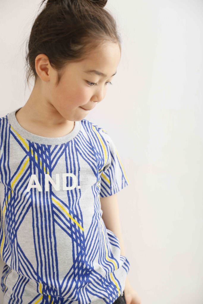 Strong graphic print T-shirt by Arch & Line kids fashion for summer 2017