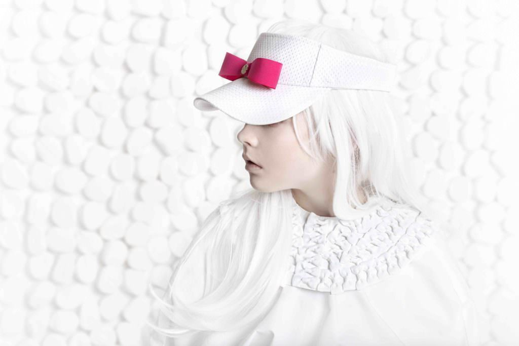 Cute visor cap with bow by Halo Luxe for summer 2017 cool kids fashion accessories