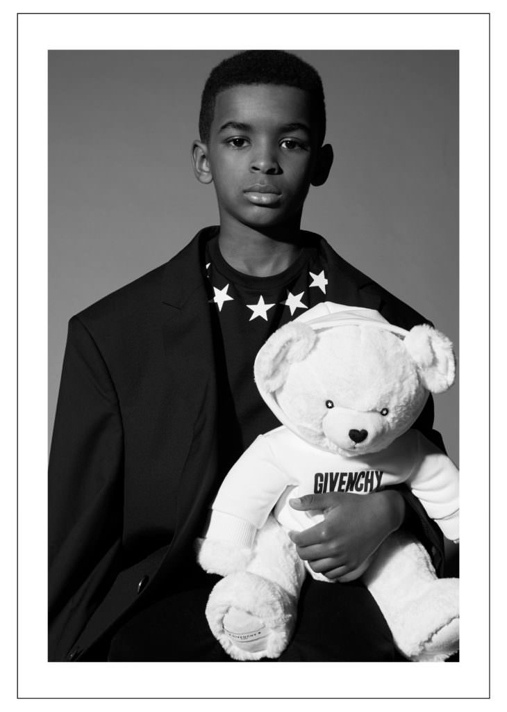 There's even a supersoft white Givenchy teddy bear for the new fall/winter 2017 collection ready for Christmas time