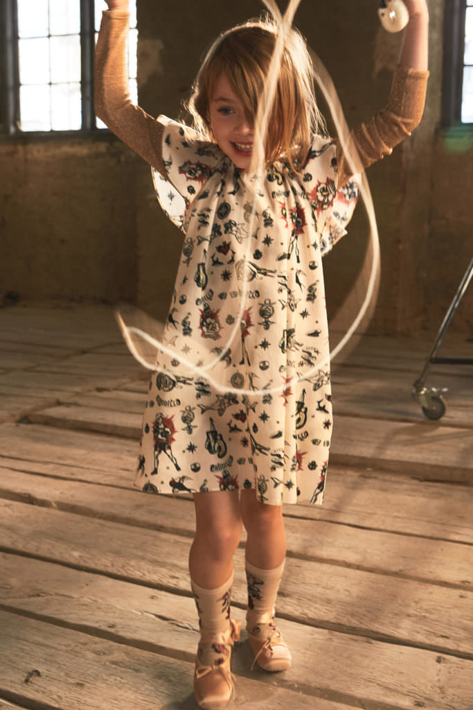Victorian inspired prints at H&M Studio Kids line for spring/summer 2017 kidswear