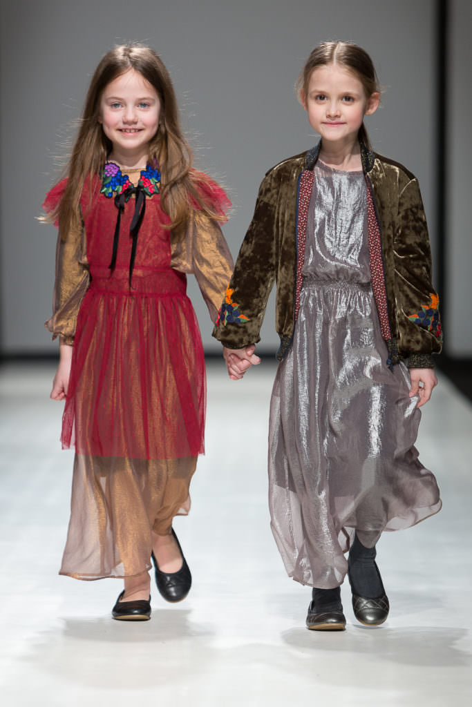 Winter party looks from Paade Modekids fashion with delicate floral touches