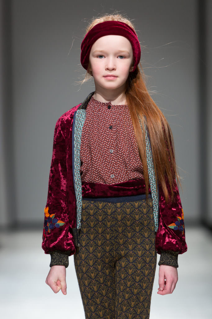 My favourite pieces from the Paade Mode kids catwalk trends at Riga Fashion Week were the embroidered velvets