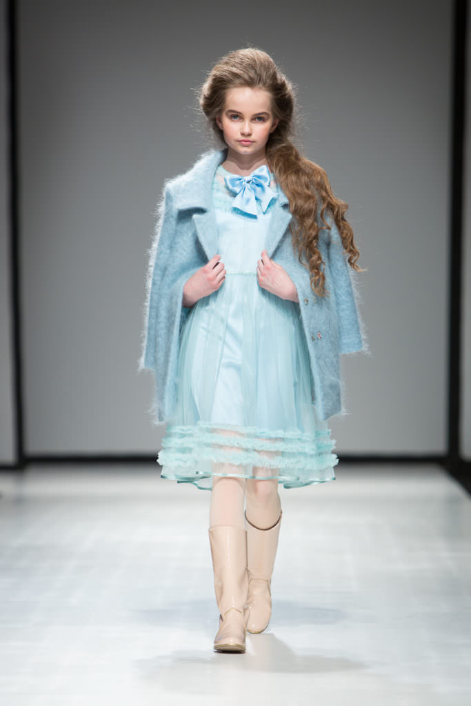 Ice blue tones from Aristocrat Kids at Riga Fashion Week for fall/winter 2017