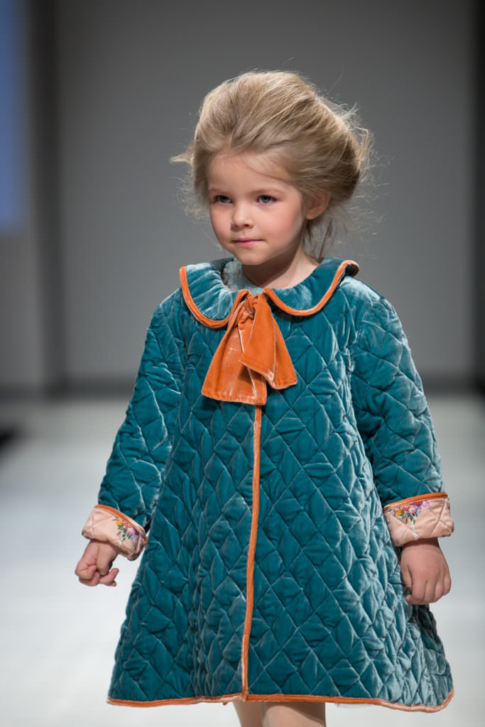 Sweet quilted coat with print lining for FW17 at Aristocrat Kids, the label is available at Harrods store from May