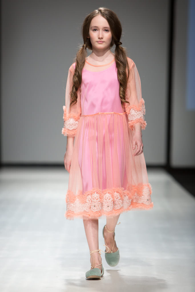 Beautiful lace dress by Aristocrat Kids for fall/winter 2017