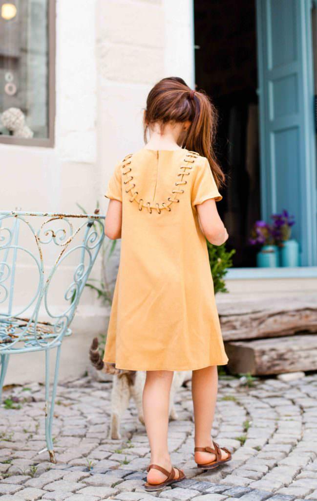 Beautiful back detail on the Bridge dress by KOKORI Kids for girls fashion summer 2017