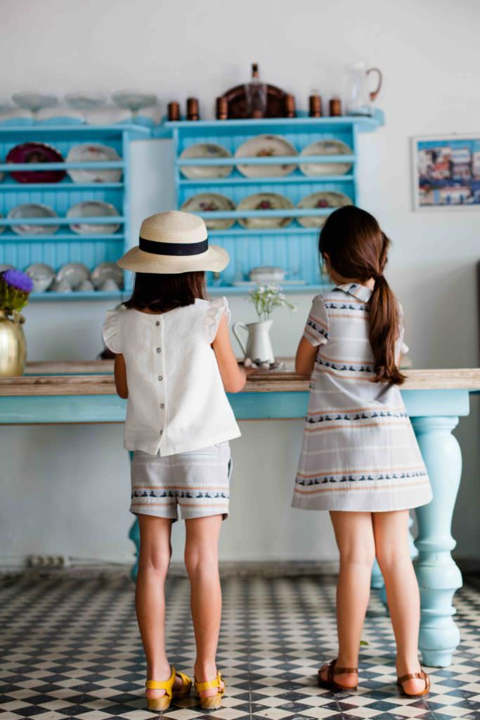 Cornwall stripe shorts and dress from KOKORI Kids debut girlswear collection for SS17