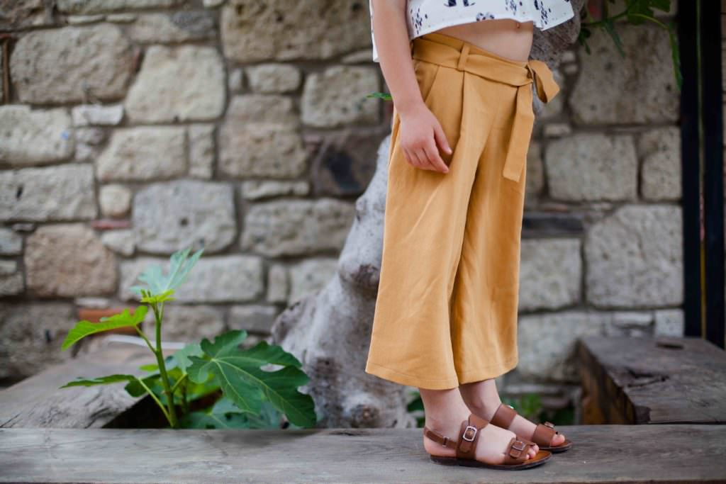 The Wales trouser from KOKORI Kids, named for the mother/daughter travels through the UK