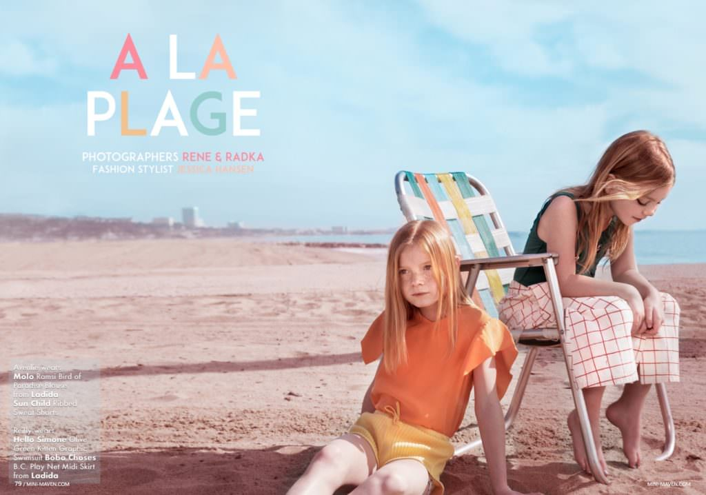 A La Plage, new kids fashion editorial from Mini Maven magazine for summer 2017